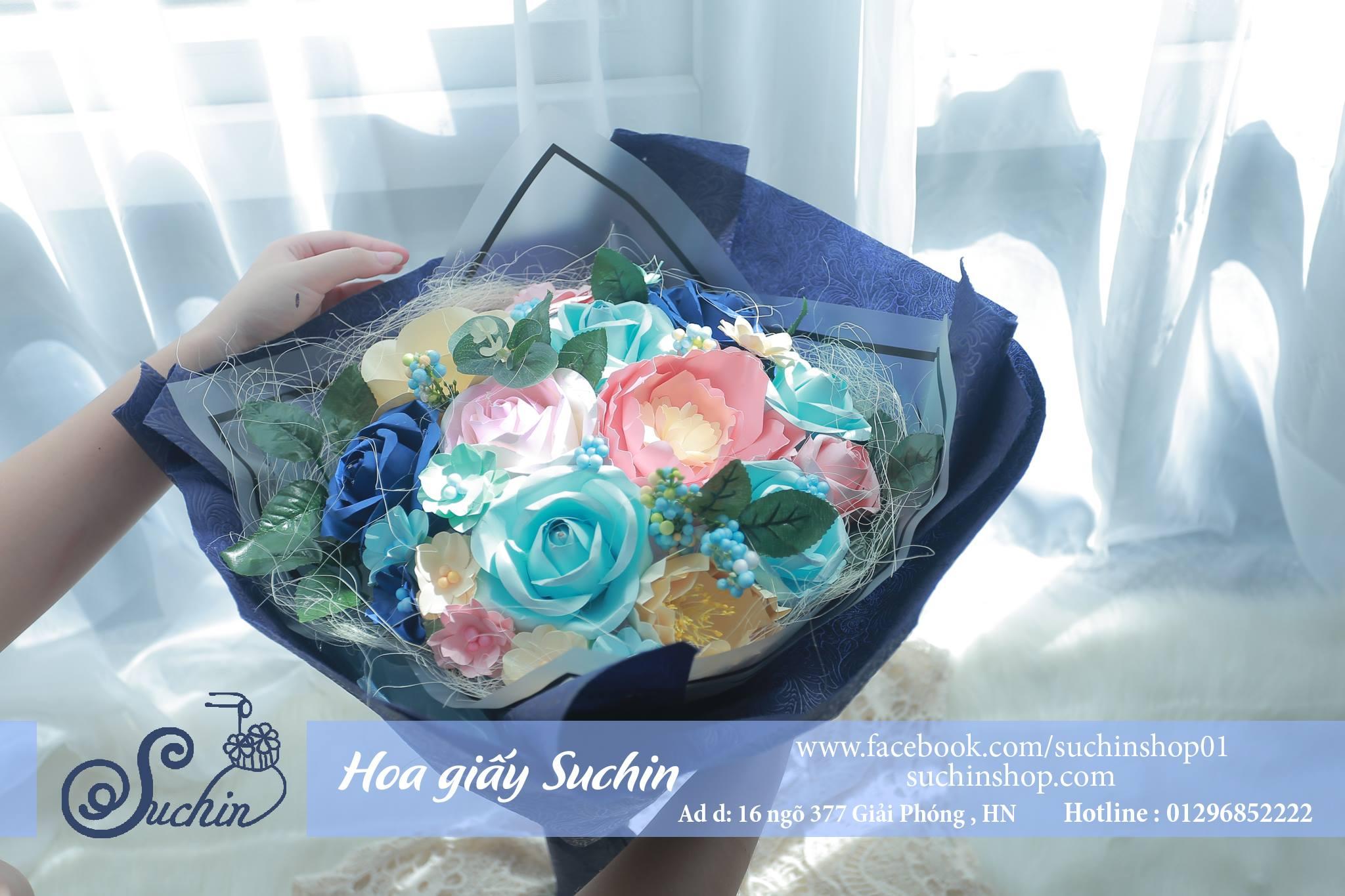 Bó hoa xanh Navy-HB06