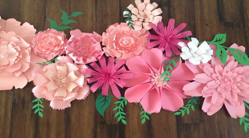Hoa giấy dán tường đẹp, giá rẻ tại HN