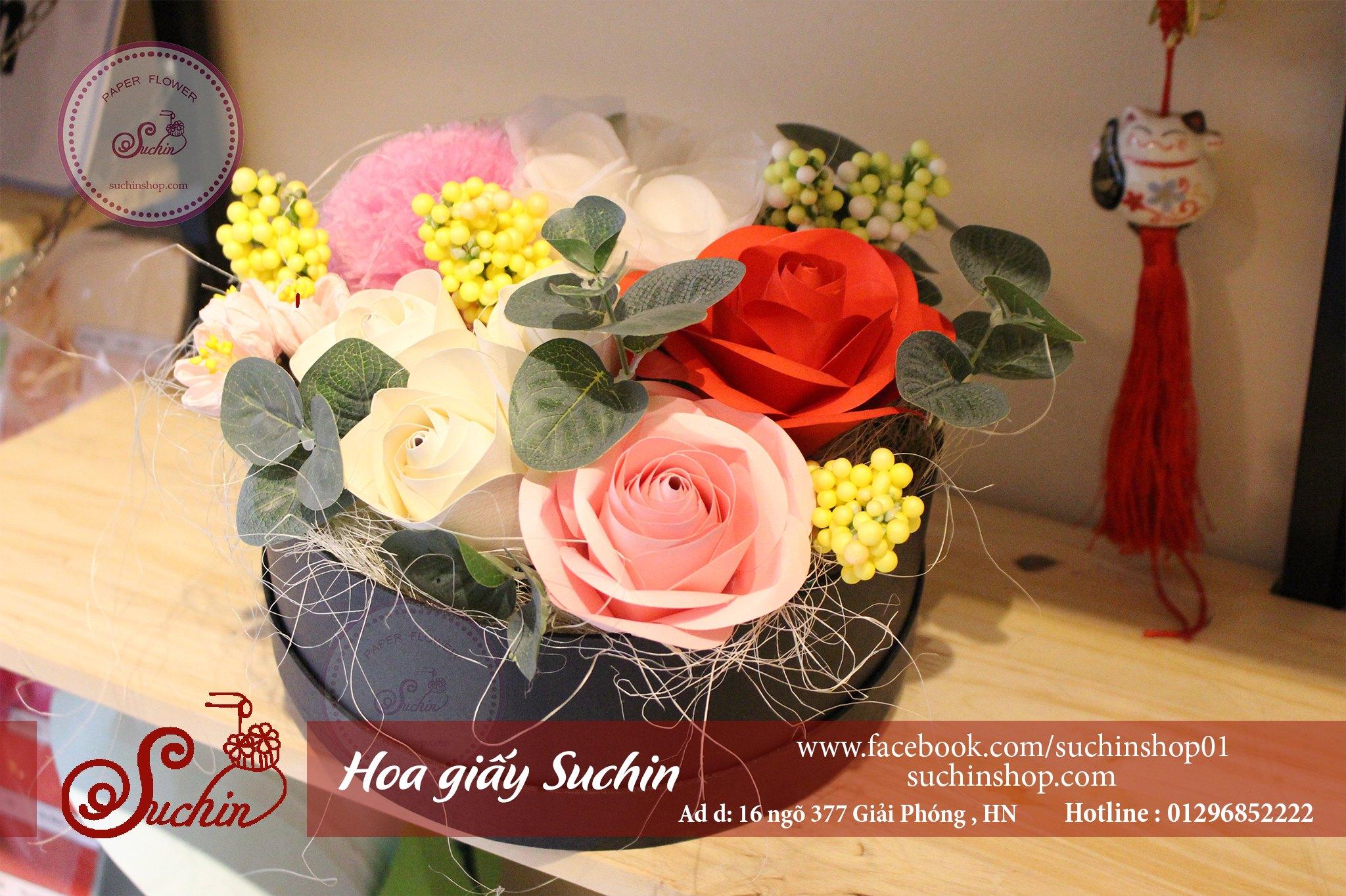Hộp hoa tròn