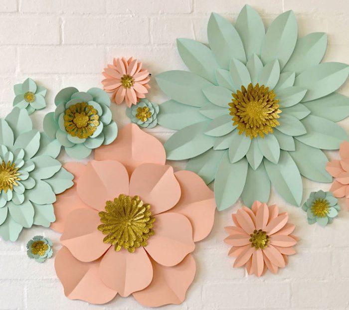 trang trí hoa giấy