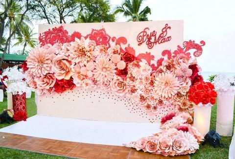 Hoa giấy đám cưới