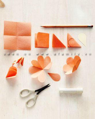 cách làm hoa giấy 3d1