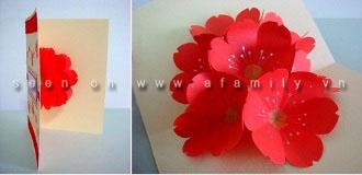 cách làm hoa giấy 3d7