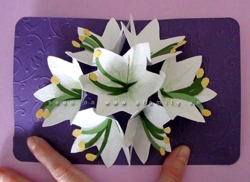 cách làm hoa giấy 3d8