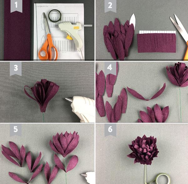 cách làm hoa giấy trang trí đẹp