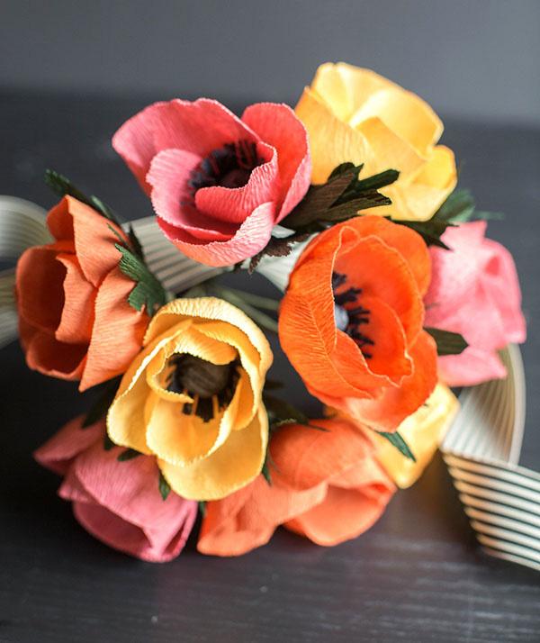 cách làm hoa giấy trang trí3