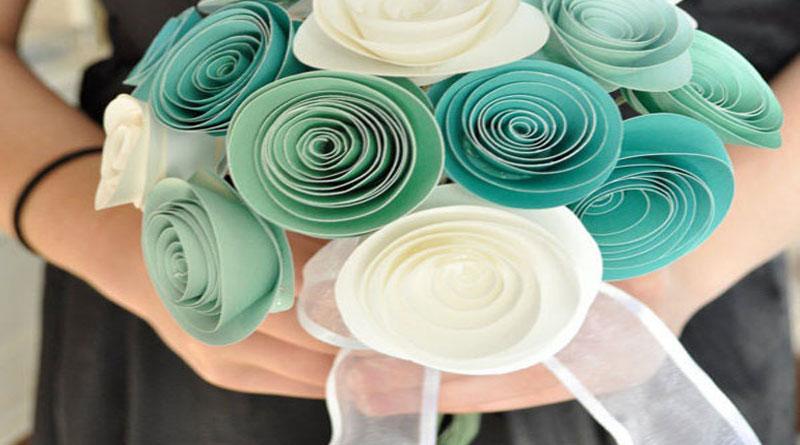 Cách làm hoa hồng giấy đơn giản nhất cho nàng
