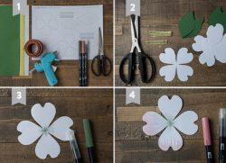 dạy làm 2 mẫu hoa giấy