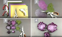 dạy làm 2 mẫu hoa giấy5