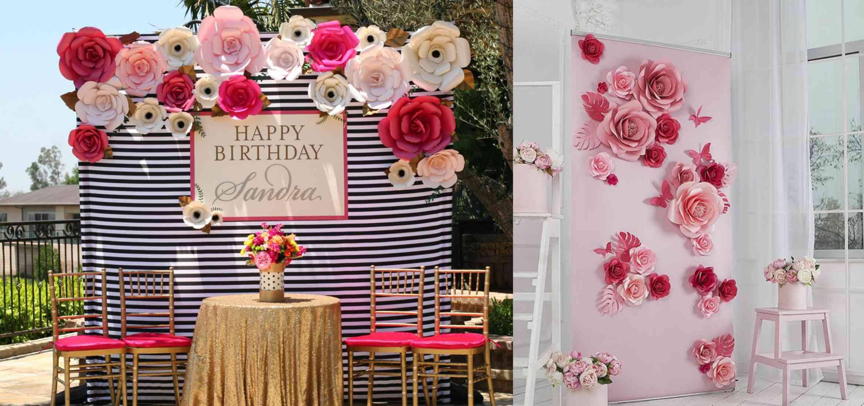 Tự làm hoa giấy backdrop trang trí sự kiện