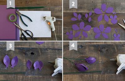 làm hoa lan từ giấy