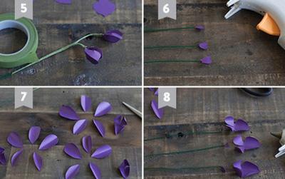 làm hoa lan từ giấy1