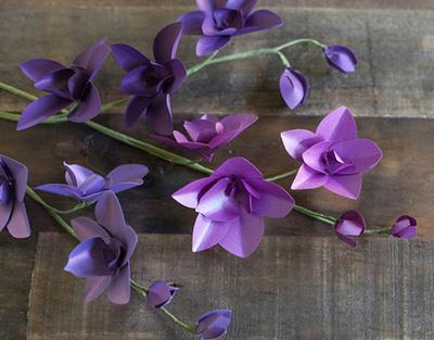 làm hoa lan từ giấy3
