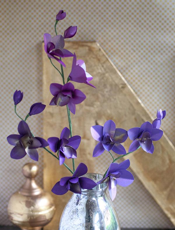 làm hoa lan từ giấy4