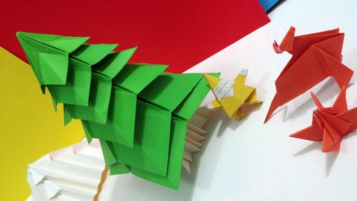 Trang trí cây thông bằng giấy Origami