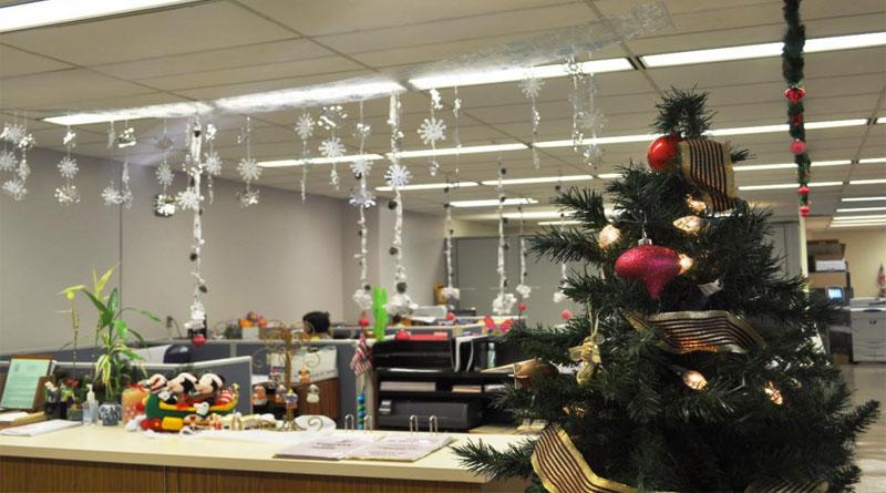Trang trí Noel cho văn phòng công sở
