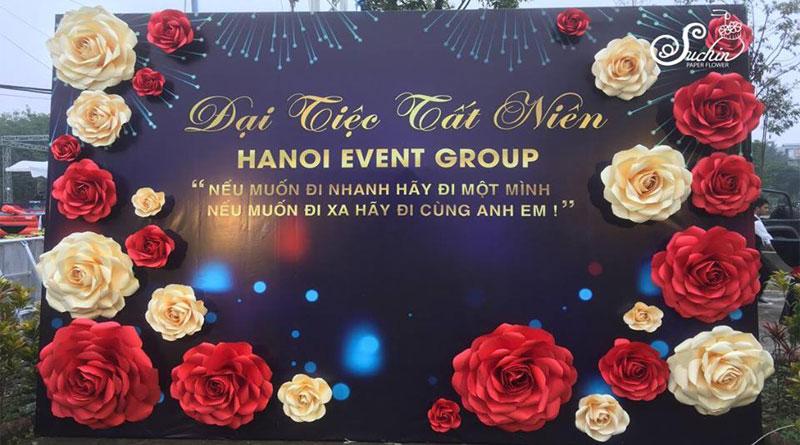 Backdrop hoa giấy đẹp tại Hà Nội dành cho bạn