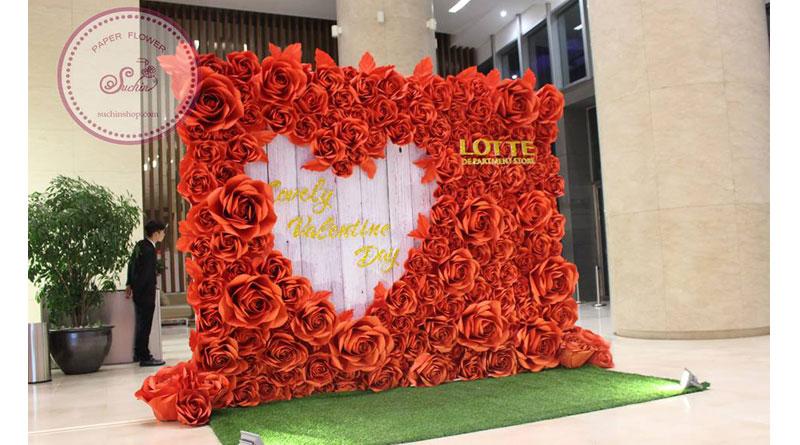 Những lưu ý khi trang trí backdrop đám cưới hoa giấy