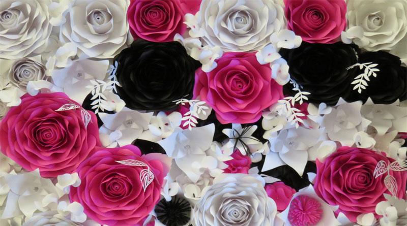 Những dụng cụ cần thiết nhất khi làm backdrop hoa giấy