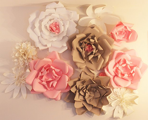 làm backdrop hoa giấy