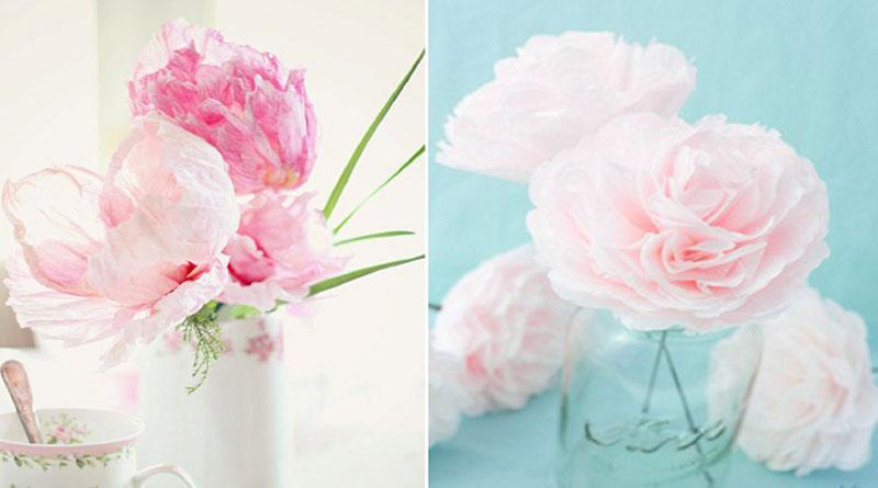 Đa dạng, phong phú với làm hoa giấy wedding nhiều loại