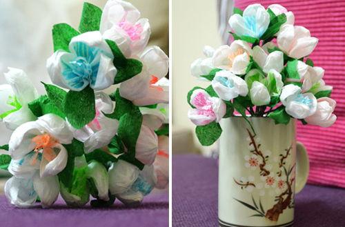 Tự làm các mẫu hoa trang trí phần 2