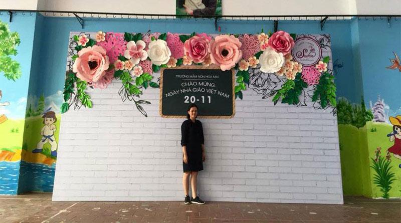 Những mẫu trang trí backdrop hoa giấy chủ đạo hiện nay
