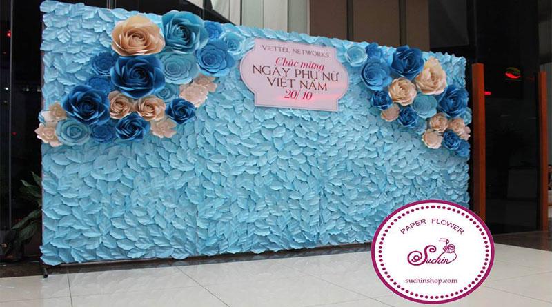Tổng hợp những mẫu backdrop hoa giấy đẹp-Suchinshop
