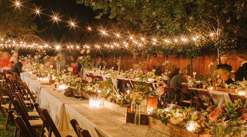 Trang trí tiệc cưới với đèn led đẹp