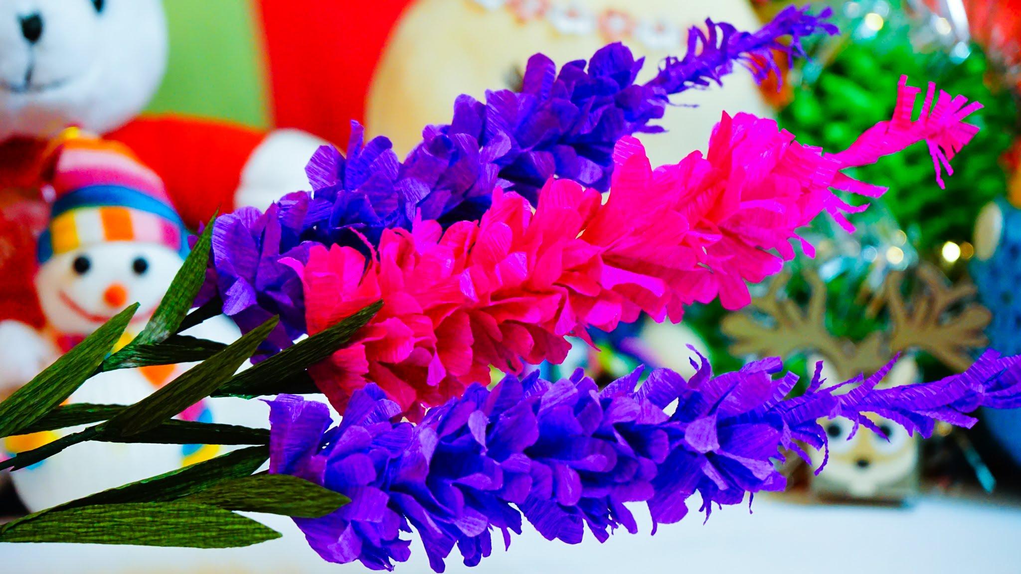 Cách làm hoa oải hương, hoa giấy nhún