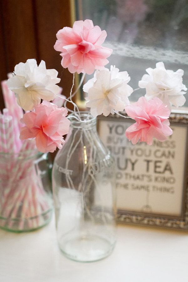 giấy tissue làm hoa