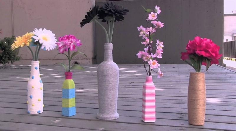 Mẹo làm giỏ hoa từ dây thừng cực dễ