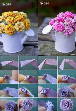 mẹo 3 cách làm hoa giấy