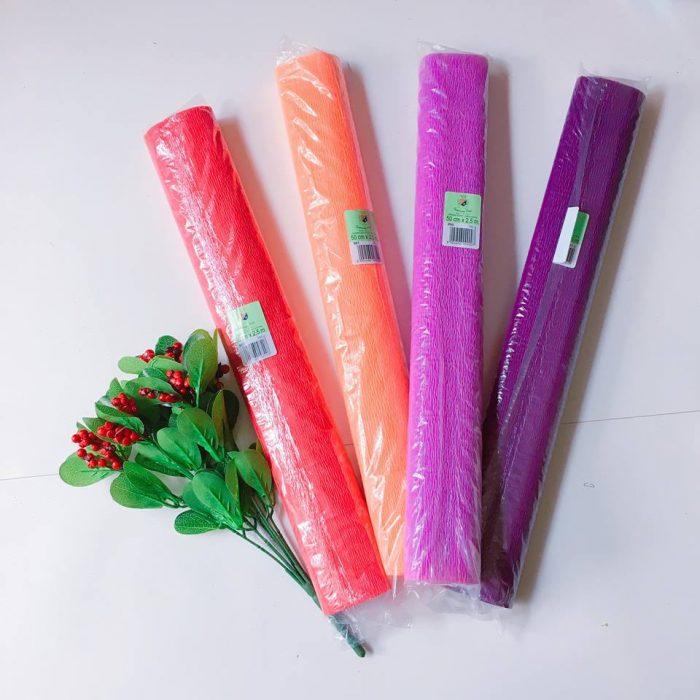 các nguyên liệu làm hoa giấy thông dụng
