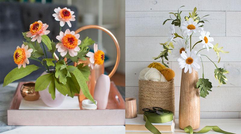 Dạy làm hoa bằng giấy đơn giản