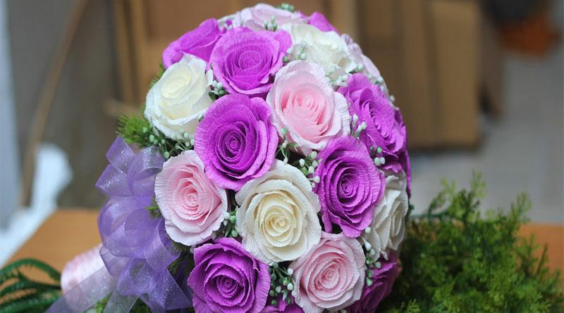 Dạy làm hoa cưới cầm tay đơn giản