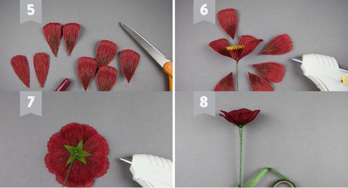 dạy làm hoa giấy nghệ thuật7