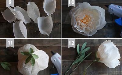 dạy làm hoa giấy nhún3