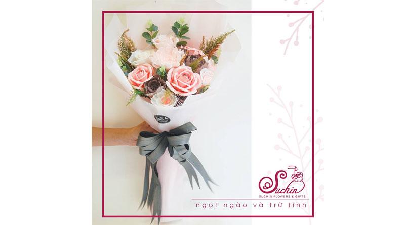 Bó hoa hồng ngọt ngào