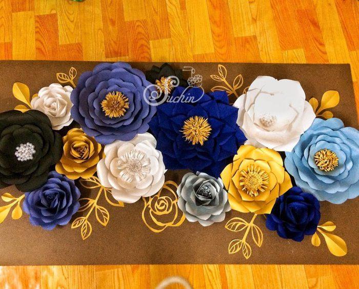 khóa học làm hoa trang trí cụm