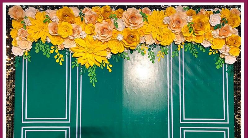 Hoa giấy trang trí nhận làm backdrop trang trí xuân 2019