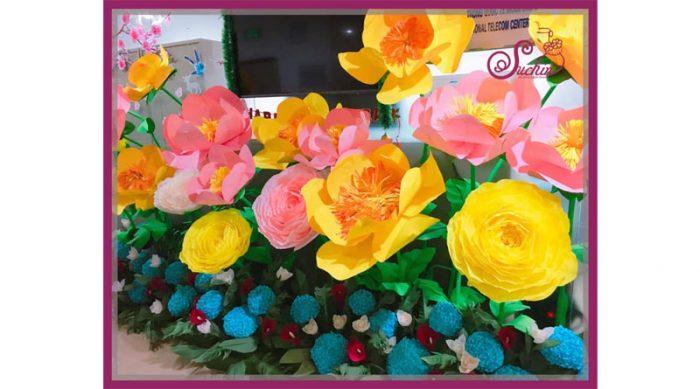 ở đây làm hoa giấy khổng lồ đẹp nhất