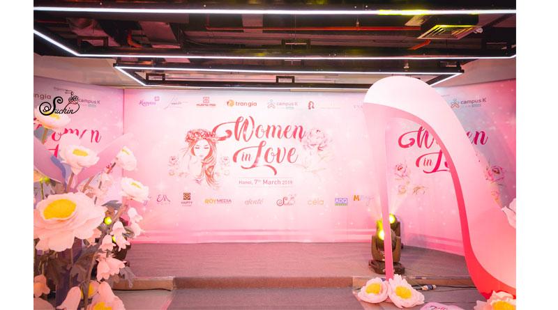 Hoa giấy trang trí Women in love-trang trí hoa giấy 8/3 Trần Gia