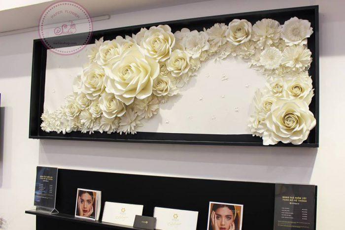 Hoa giấy trang trí khung tranh hoa giấy
