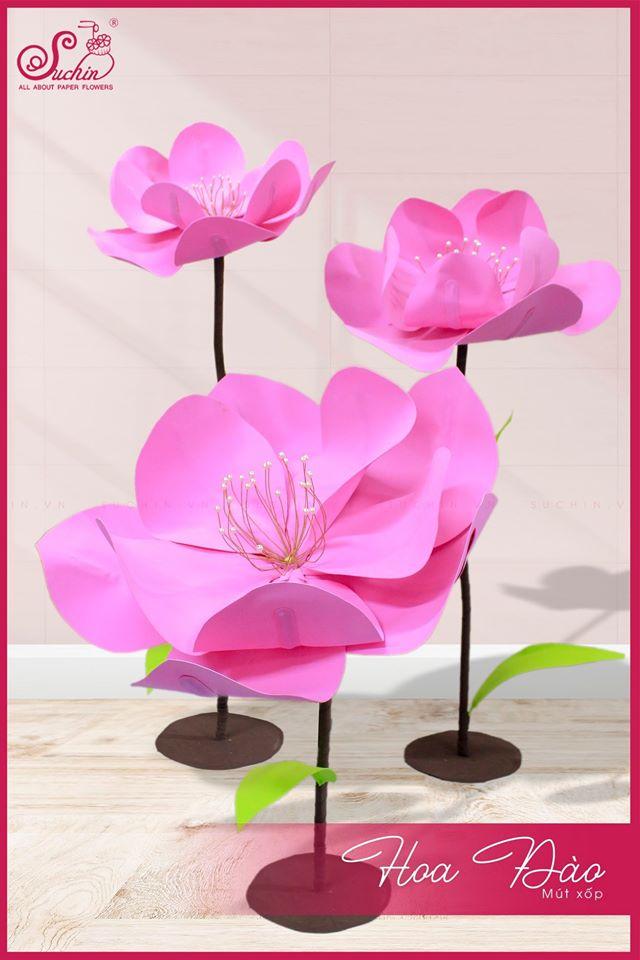 Cây hoa đào mút xốp