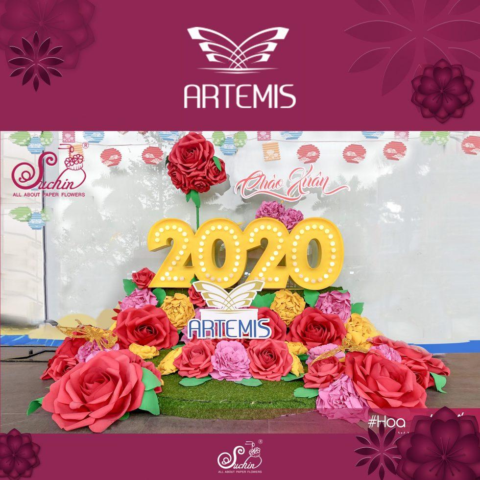 Trang trí Tết sảnh trung tâm thương mại ARTEMIS