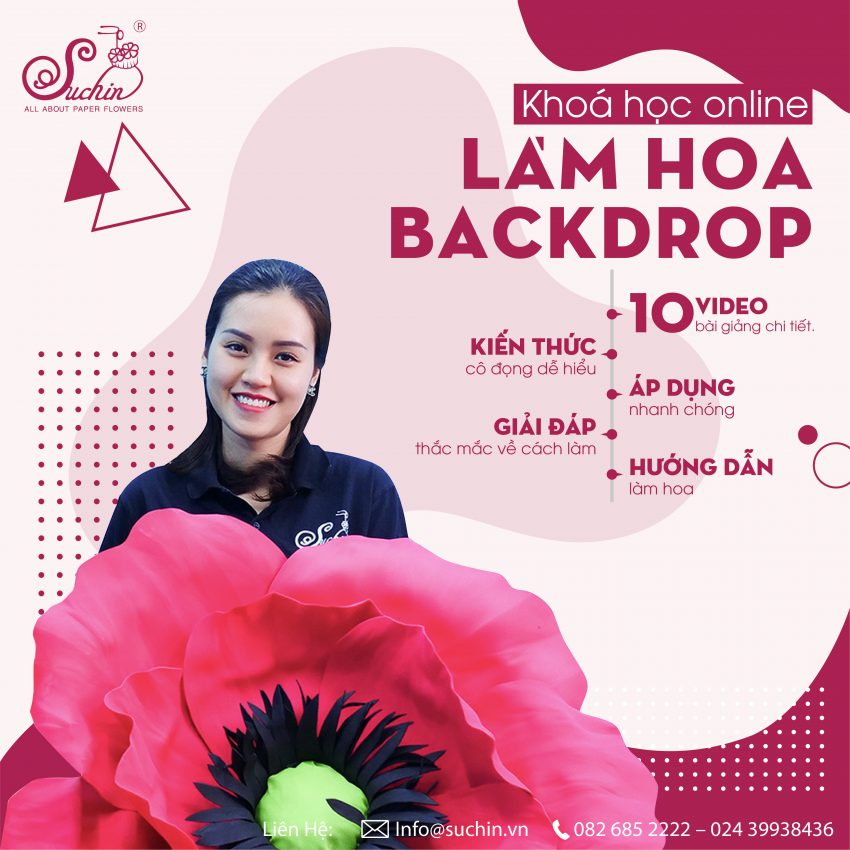 Khoá Học Làm Hoa Backdrop Pro