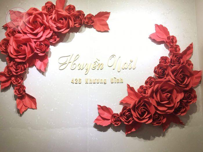 cụm hoa giấy trang trí