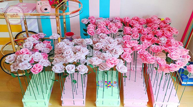 Quà tặng hoa giấy ngày 20-10 Suchin shop HN