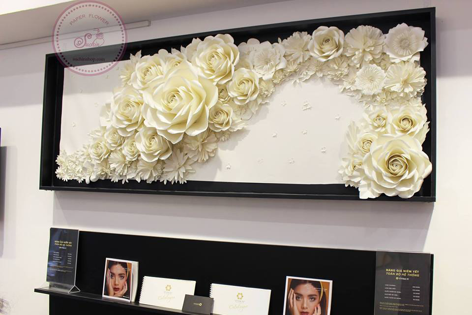 Khung tranh hoa giấy